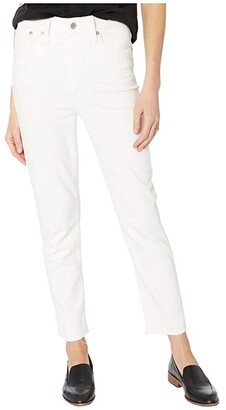 Madewell Perfect Vintage in Tile White w/ Raw Hem (Tile White) Women's Jeans