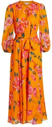 Joie Emarie Floral Print Silk Maxi Dress