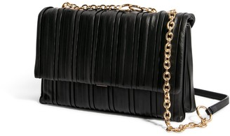 """House of Want """"H.O.W."""" We Step Up Shoulder Bag In Black Pleated"""