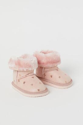 H&M Warm-lined Boots - Orange
