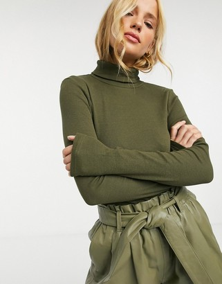 Brave Soul adrian long sleeve roll neck top