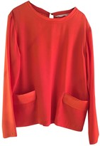 Golden Goose Orange Silk Tops