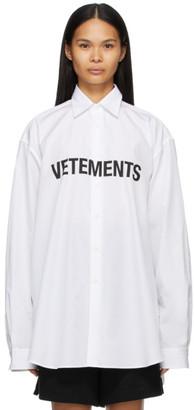 Vetements White Logo Shirt