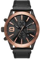 Diesel Men's DZ4445 Rasp Chrono Leather Watch