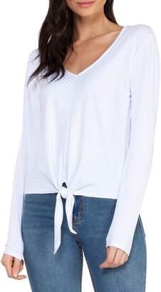Dex Tie-Front Long-Sleeve Top