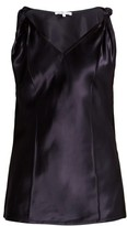 Helmut Lang Twisted Knot Satin Top - Womens - Navy
