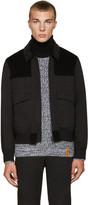 Kenzo Black Twill and Corduroy Jacket