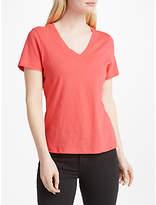 John Lewis V-Neck Short Sleeve Cotton Slub T-Shirt