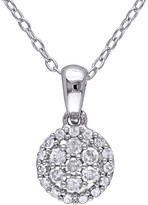 Sterling Silver Diamond Pendant Necklace - 0.25 ctw