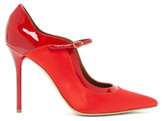 Malone Souliers Corina Satin Mary-jane Pumps - Womens - Red