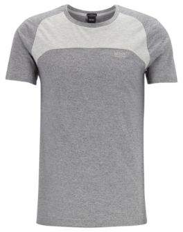 BOSS Colour-block T-shirt in stretch pique with S.Cafe