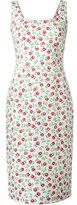Prada printed scoop neck dress - women - Cotton/Spandex/Elastane - 40