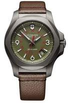 Victorinox I.N.O.X. Titanium Leather-Strap Watch