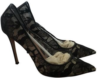Gianvito Rossi Black Lace Heels