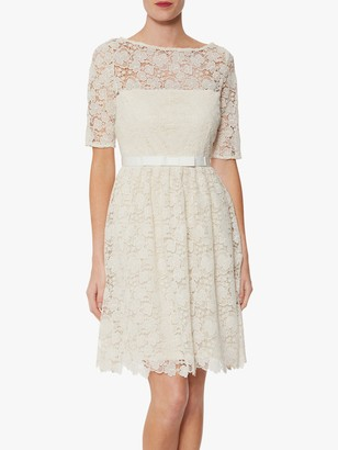 Gina Bacconi Malia Embroidered Mini Dress