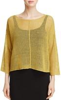 Eileen Fisher Open Knit Organic Linen Sweater