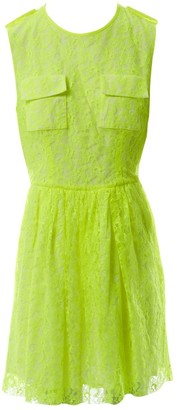 MSGM Yellow Lace Dresses