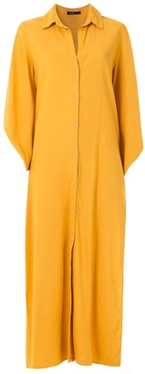 ESC Linen Midi Shirt Dress