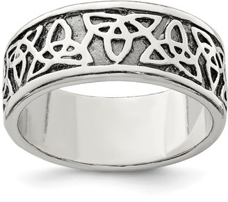 Sterling Silver Antiqued Celtic Knot Ring by Versil