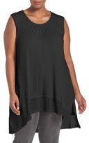 Melissa McCarthy Plus Size Women's Rib Knit High/low Tank