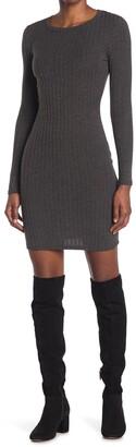 Velvet Torch Ribbed Knit Mini Dress