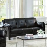 Hokku Designs Drevan Sofa Upholstery Type/Color: Black