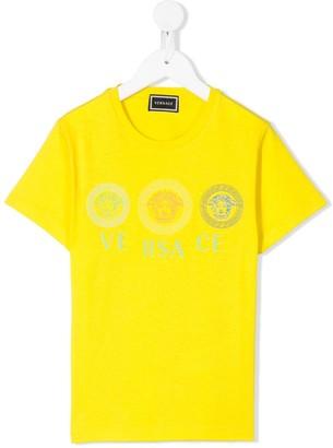 Versace triple Medusa logo printed T-shirt