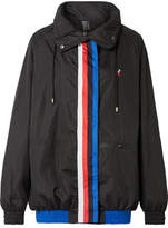 P.E Nation Back Up Oversized Striped Shell Jacket - Black