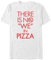 Fifth Sun Men's Tee Shirts WHITE - White 'No We in Pizza' Tee - Men