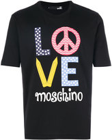 Love Moschino logo print T-shirt - men - Cotton - XS