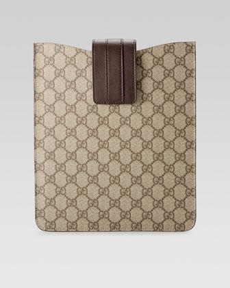 GG Plus iPad® Case, Beige/Ebony
