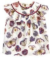 Gucci Butterflies & Flowers Print Blouse