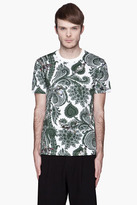 Givenchy Green paisley and vintage airplane print t-shirt