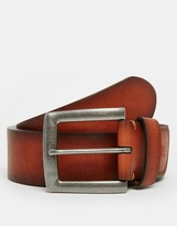 French Connection Casual Leather Belt - Brown