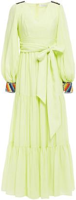 Zayan The Label Lenny Embellished Ottoman Maxi Dress