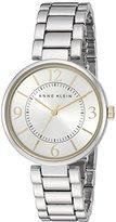 Anne Klein Women's AK/2275SVTT Silver-Tone Bracelet Watch