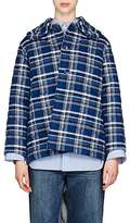 Balenciaga Women's Quilted Plaid Cotton-Blend Flannel Jacket