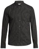 Ami Micro-checked cotton shirt