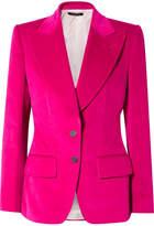 Tom Ford Cotton And Linen-blend Velvet Blazer - Fuchsia