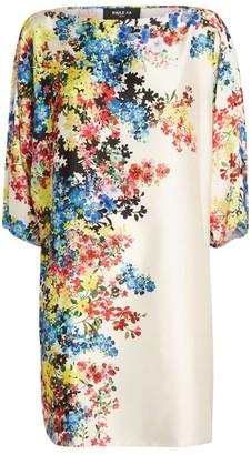 Paule Ka Floral Satin Midi Dress