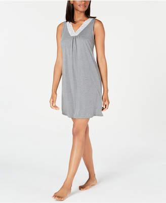 Charter Club Super Soft Knit Lace-Trim Chemise Nightgown