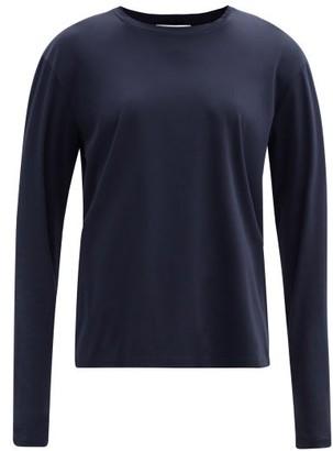 Jil Sander Long-sleeved Cotton-jersey T-shirt - Navy