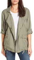 Petite Women's Caslon Roll Sleeve Utility Jacket