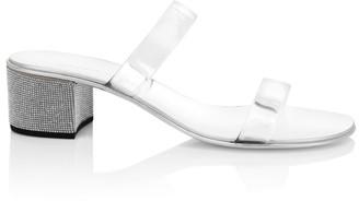 Giuseppe Zanotti Rai Swarovski Crystal-Embellished PVC Mules