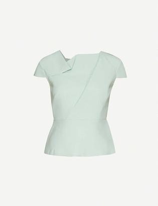 Roland Mouret Alanya asymmetric wool-crepe top