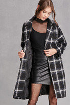 Forever 21 FOREVER 21+ Motel Longline Plaid Coat