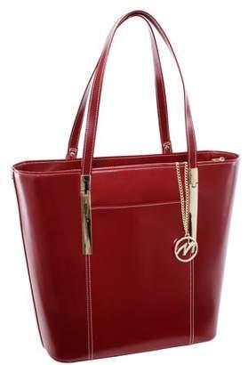 McKlein Usa DEVA, Ladies' Tote with Tablet Pocket, Top Grain Cowhide Leather, Red (97736)