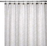 Bed Bath & Beyond WaterShed® Single Solution™ 2-in-1 Victorian Fabric Shower Curtain - White/Taupe