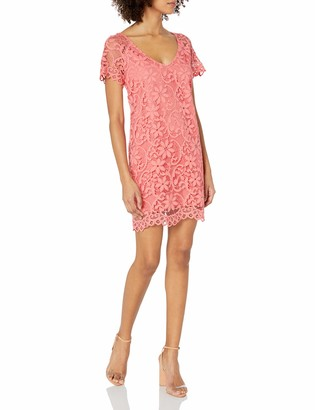 BB Dakota Women's Rene Scallop Lace Shift Dress