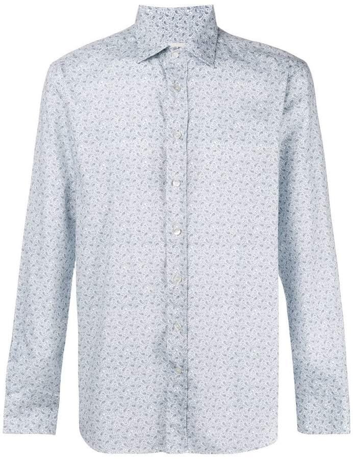 Etro paisley print slim-fit shirt